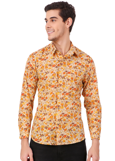 dc7d537a481b Gajari 2019 New Fashion Flower Printed Full Sleeve Shirt for Men, Vint -  Gajari.com