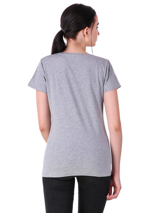 Heather-Grey--Short-Sleeve-Plain-T-Shirt-for-Women-Online-at-Gajari.com-The-Best-T-Shirt-Brand-BV
