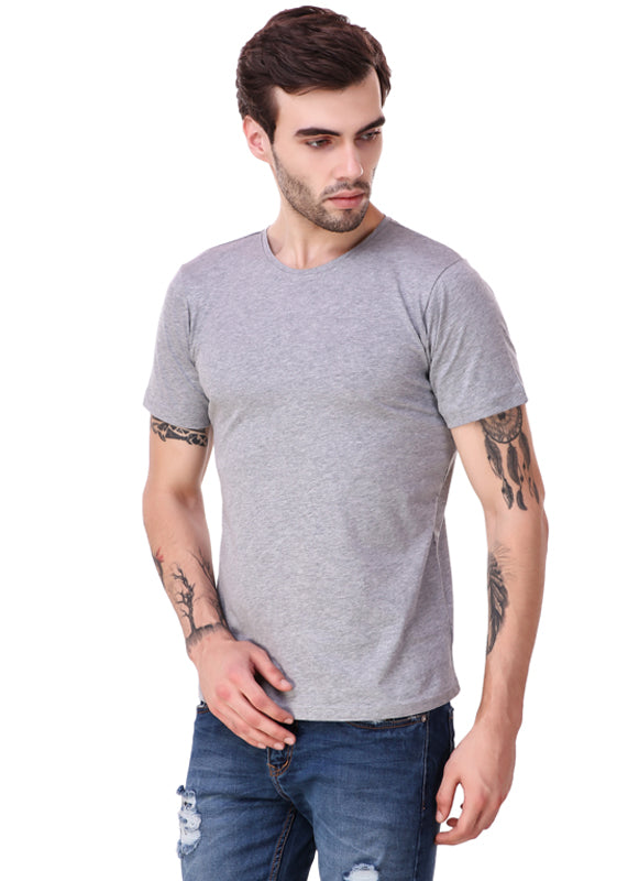 Heather-Grey-Short-Sleeve-Plain-T-Shirt-for-Men-Online-at-Gajari.com-The-Best-T-Shirt-Brand-fv