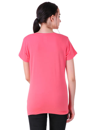 Hot-Pink-Short-Sleeve-Plain-T-Shirt-for-Women-Online-at-Gajari.com-The-Best-T-Shirt-Brand-bv