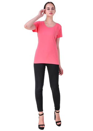 Hot-Pink-Short-Sleeve-Plain-T-Shirt-for-Women-Online-at-Gajari.com-The-Best-T-Shirt-Brand-ffv
