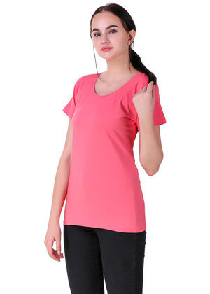Hot-Pink-Short-Sleeve-Plain-T-Shirt-for-Women-Online-at-Gajari.com-The-Best-T-Shirt-Brand-lv