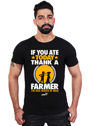 If-You-Ate-Today-Thank-A-Farmer-The-Real-Heroes-Of-India-T-Shirt-for-Men-Online-at-Gajari-the-best-online-shopping-India-t-shirt-brand-buy-now