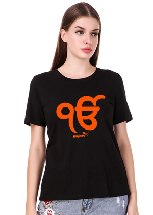Ik-Onkar-T-Shirt-for-Girls-Gajari-Fv