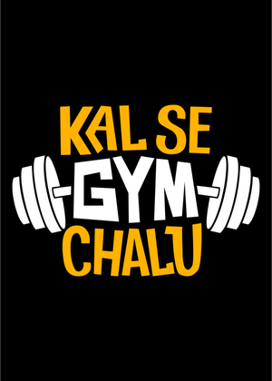 Kal Se Gym Chalu T-Shirt for Men Gajari Online