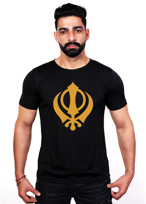 Khanda-T-Shirt-for-Men-front-Gajari