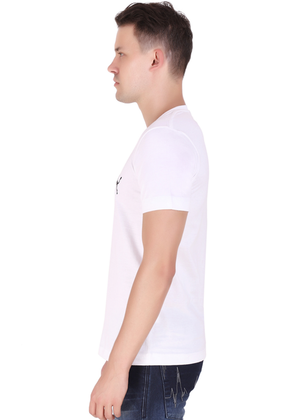 V Neck T Shirt for Men White Pure Cotton T lv