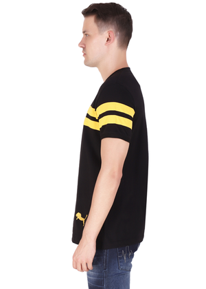 T-Shirt for Men Stylish made of cotton jersey available in black half sleeve round neck at gajari lv