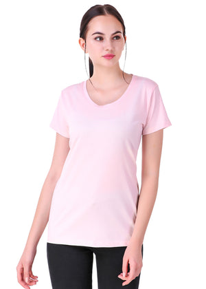 Light-Pink-Short-Sleeve-Plain-T-Shirt-for-Women-Online-at-Gajari.com-The-Best-T-Shirt-Brand-fv