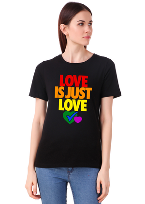 Love-Is-Just-Love-Printed-t-shirt-for-women-Online-shopping-India-at-Gajari-the-best-T-Shirt-Brand-front