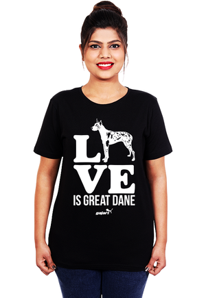 Love-is-Great-Dane,-Great-Dane-Dog-T-Shirt-for-Women