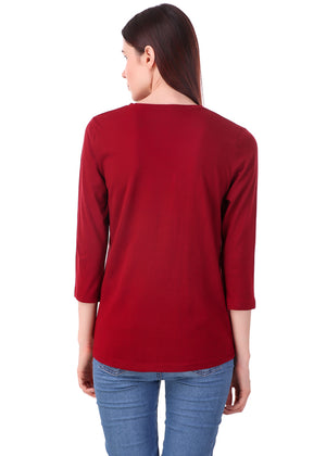 Maroon-Long-Sleeve-Plain-T-Shirt-for-Women-Online-at-Gajari.com-The-Best-T-Shirt-Brand-bv