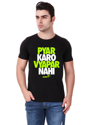 Pyar-Karo-Vyapar-Nahi-Printed-t-shirt-for-men-Online-shopping-India-at-Gajari-the-best-T-Shirt-Brand-front