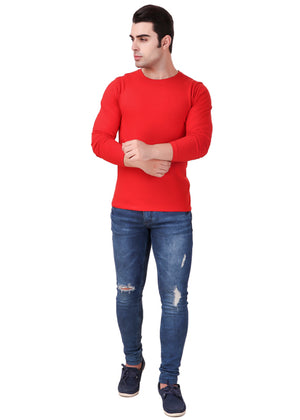 Red-Long-Sleeve-Plain-T-Shirt-for-Men-Online-at-Gajari.com-The-Best-T-Shirt-Brand-ffv