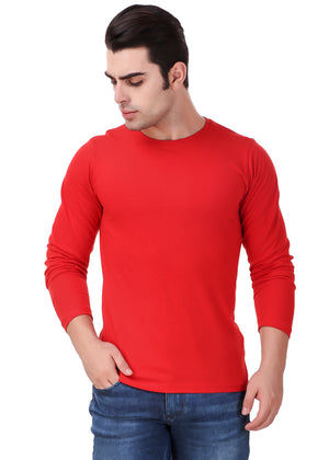 Red-Long-Sleeve-Plain-T-Shirt-for-Men-Online-at-Gajari.com-The-Best-T-Shirt-Brand-fv