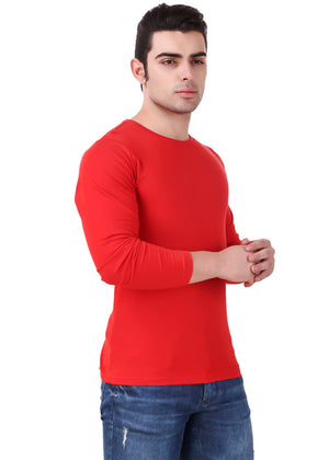 Red-Long-Sleeve-Plain-T-Shirt-for-Men-Online-at-Gajari.com-The-Best-T-Shirt-Brand-rv