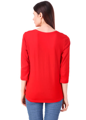 Red-Long-Sleeve-Plain-T-Shirt-for-Women-Online-at-Gajari.com-The-Best-T-Shirt-Brand-bv