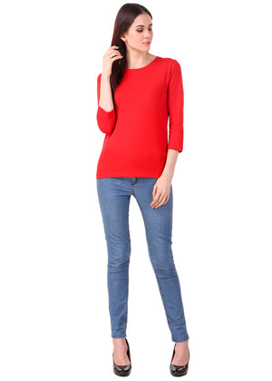 Red-Long-Sleeve-Plain-T-Shirt-for-Women-Online-at-Gajari.com-The-Best-T-Shirt-Brand-ffv