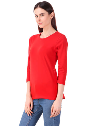 Red-Long-Sleeve-Plain-T-Shirt-for-Women-Online-at-Gajari.com-The-Best-T-Shirt-Brand-lv