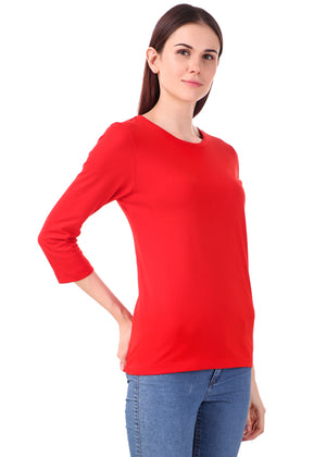 Red-Long-Sleeve-Plain-T-Shirt-for-Women-Online-at-Gajari.com-The-Best-T-Shirt-Brand-rv