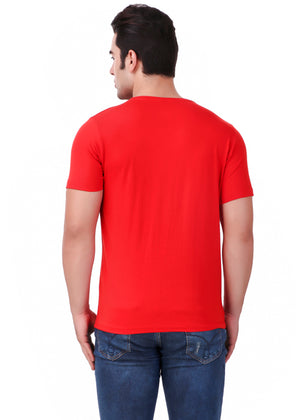 Red-Short-Sleeve-Plain-T-Shirt-for-Men-Online-at-Gajari.com-The-Best-T-Shirt-Brand-Back-View