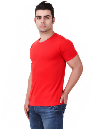 Red-Short-Sleeve-Plain-T-Shirt-for-Men-Online-at-Gajari.com-The-Best-T-Shirt-Brand-Left-View