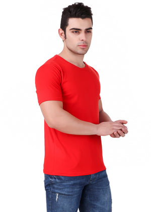 Red-Short-Sleeve-Plain-T-Shirt-for-Men-Online-at-Gajari.com-The-Best-T-Shirt-Brand-Right-View