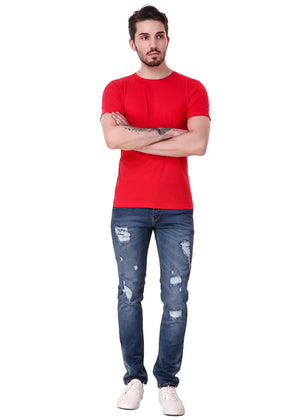 Rose-Red-Short-Sleeve-Plain-T-Shirt-for-Men-Online-at-Gajari.com-The-Best-T-Shirt-Brand-ffv