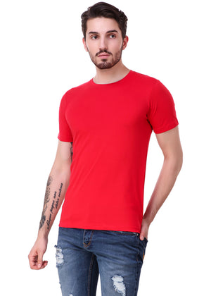 Rose-Red-Short-Sleeve-Plain-T-Shirt-for-Men-Online-at-Gajari.com-The-Best-T-Shirt-Brand-lv