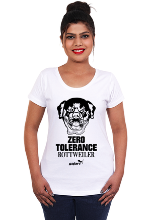 Rottweiler-dog-t-shirts-india-online-at-gajari-for-women