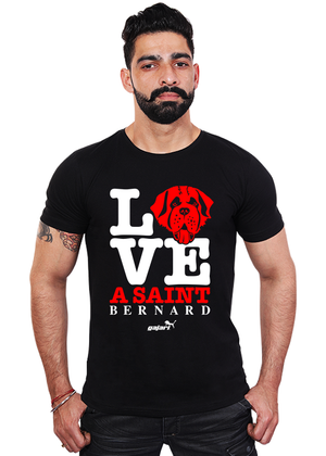 Saint-Bernard-Dog-T-Shirts-India-online-for-men-at-gajari