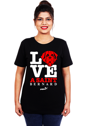 Saint-Bernard-Dog-T-Shirts-India-online-for-women-at-gajari
