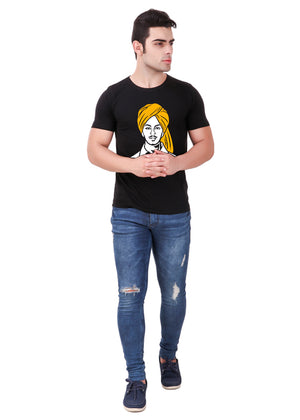 Shaheed-Bhagat-Singh-T-Shirt-for-Men-Online-at-Gajari.com-Influential-Edition-Full-Front-View
