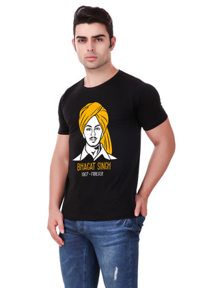 Shaheed-Bhagat-Singh-T-Shirt-for-Men-Online-at-Gajari.com-Influential-Edition-Left-View