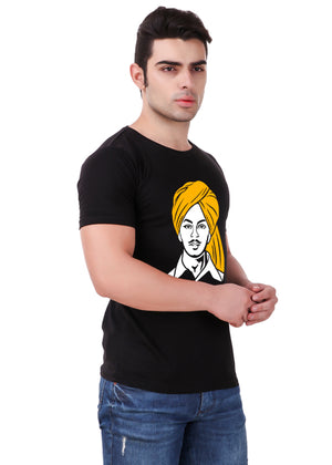 Shaheed-Bhagat-Singh-T-Shirt-for-Men-Online-at-Gajari.com-Influential-Edition-Right-View