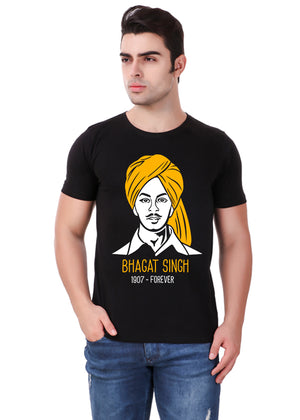 Shaheed-Bhagat-Singh-T-Shirt-for-Men-Online-at-Gajari.com-Influential-Edition