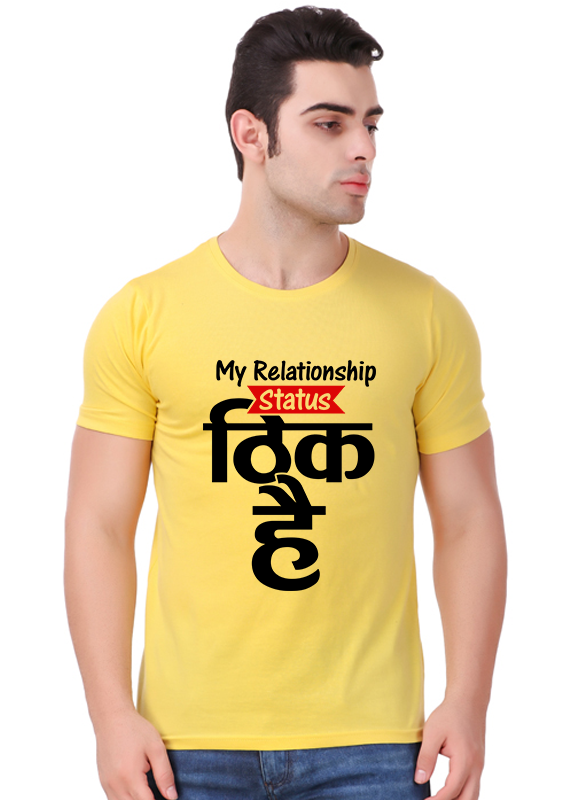 buy theek hai t shirt for men online gajari com gajari com