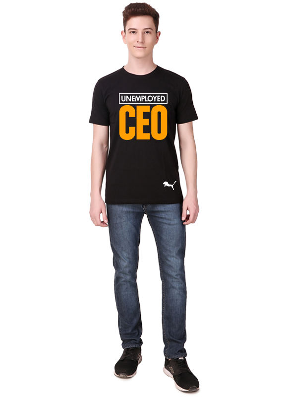 Unemployed-ceo-t-shirt-for-men-online-at-gajari-front-view