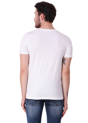 White-Short-Sleeve-Plain-T-Shirt-for-Men-Online-at-Gajari-Back
