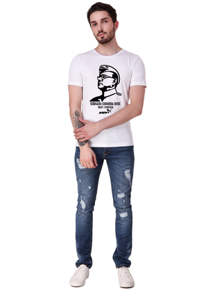 White-Short-Sleeve-Plain-T-Shirt-for-Men-Online-at-Gajari-front1