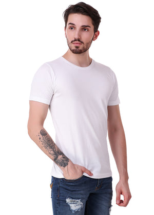 White-Short-Sleeve-Plain-T-Shirt-for-Men-Online-at-Gajari.com-The-Best-T-Shirt-Brand-rv