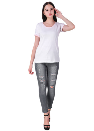 White-Short-Sleeve-Plain-T-Shirt-for-Women-Online-at-Gajari.com-The-Best-T-Shirt-Brand-full-front-view1
