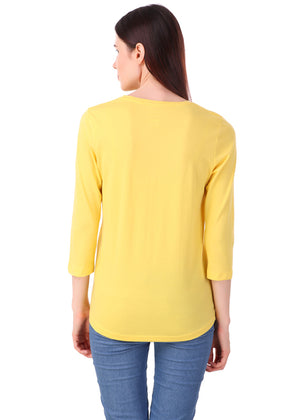 Yellow-Long-Sleeve-Plain-T-Shirt-for-Women-Online-at-Gajari.com-The-Best-T-Shirt-Brand-bv