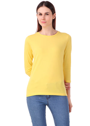 Yellow-Long-Sleeve-Plain-T-Shirt-for-Women-Online-at-Gajari.com-The-Best-T-Shirt-Brand-fv