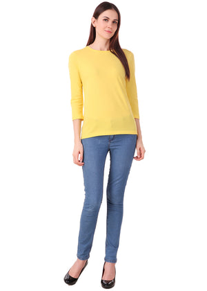 Yellow-Long-Sleeve-Plain-T-Shirt-for-Women-Online-at-Gajari.com-The-Best-T-Shirt-Brand-lv-ffv1