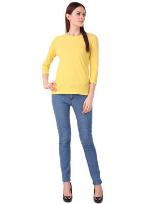 Yellow-Long-Sleeve-Plain-T-Shirt-for-Women-Online-at-Gajari.com-The-Best-T-Shirt-Brand-lv-ffv