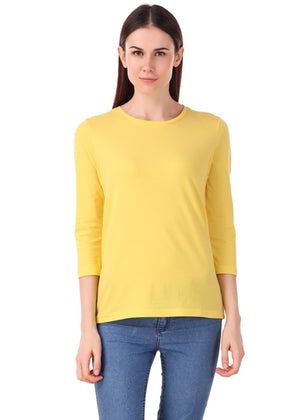 Yellow-Long-Sleeve-Plain-T-Shirt-for-Women-Online-at-Gajari.com-The-Best-T-Shirt-Brand-lv-fv1
