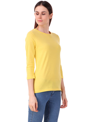 Yellow-Long-Sleeve-Plain-T-Shirt-for-Women-Online-at-Gajari.com-The-Best-T-Shirt-Brand-lv-rv