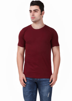 Yellow-Short-Sleeve-Plain-T-Shirt-for-Men-Online-at-Gajari.com-The-Best-T-Shirt-Brand-front-View