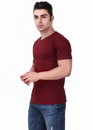 Yellow-Short-Sleeve-Plain-T-Shirt-for-Men-Online-at-Gajari.com-The-Best-T-Shirt-Brand-left-view